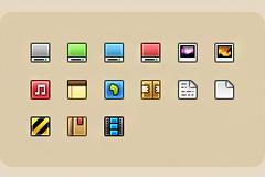 几个彩色的小图标PSD素材