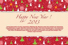2013创意新年背景矢量素材
