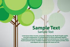 创意树木背景矢量素材