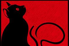 黑色猫咪插画矢量素材