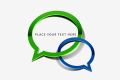 创意气泡对话框矢量素材下载