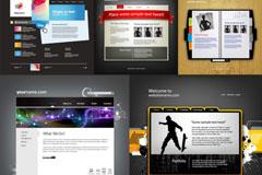 时尚网页设计矢量素材