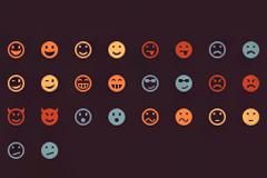 26个聊天用表情PSD素材
