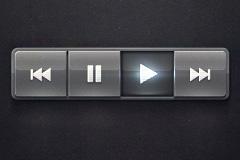 发亮透明质感按钮PSD素材