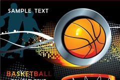 潮流篮球运动背景矢量素材