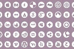 圆形社交网络图标PSD素材