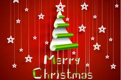 创意圣诞树背景矢量素材
