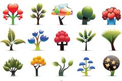 创意卡通树木矢量素材