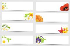 简洁花卉横幅矢量素材