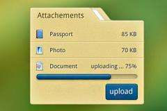 简洁的上传下载界面PSD优发娱乐