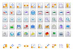 网络应用小图标矢量素材