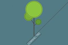 清新树木设计矢量素材