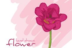 清新花卉背景矢量素材