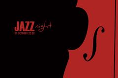 爵士乐之夜背景矢量素材