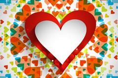 情人节精美立体爱心矢量素材