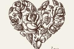创意花卉爱心矢量素材
