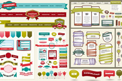 网页界面设计元素矢量素材
