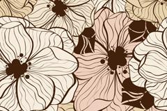 手绘花卉矢量素材