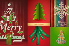 圣诞树创意背景设计矢量素材