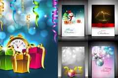 圣诞节装饰梦幻背景矢量素材