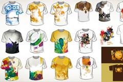 潮流T恤衫设计矢量素材