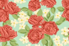 浪漫花卉背景矢设计量素材