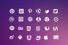 互联网logo图标矢量素材