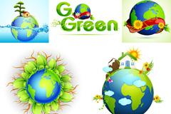 环保主题海报矢量素材