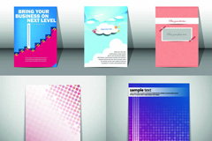 简洁商务画册矢量素材