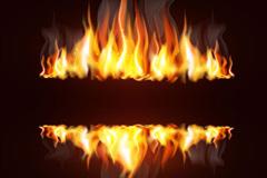 创意火焰设计矢量素材