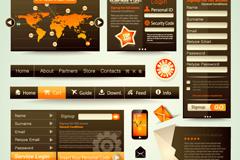 时尚创意网页UI设计矢量素材