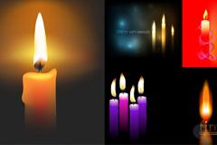 彩色蜡烛矢量素材