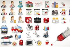 医疗卫生图标矢量素材