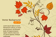 秋季枫叶背景矢量素材