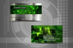 绿色创意名片矢量素材