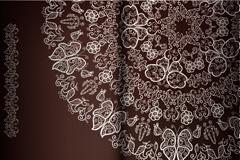古典花纹装饰邀请函矢量素材