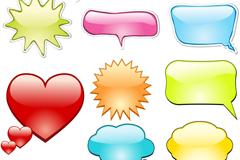 创意彩色对话框设计矢量素材