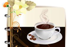 创意咖啡背景设计矢量素材