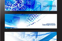蓝色科技主题横幅矢量素材