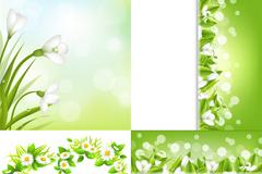 春天卡片设计矢量素材