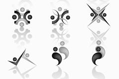 人物动态图标设计矢量素材