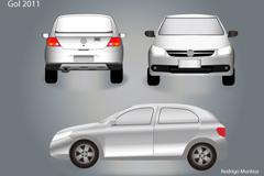大众汽车模型矢量素材