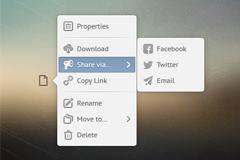 程序文件菜单打开界面PSD素材