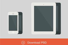 �O果iphone和ipad素白模板PSD素