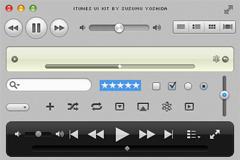 iTunes界面设计元素PSD素材