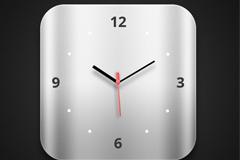 苹果系统的时钟PSD素材