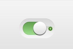 白色按钮绿色底PSD素材