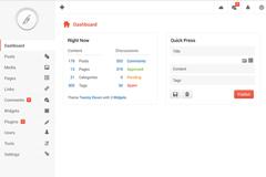 白色管理界面设计PSD素材