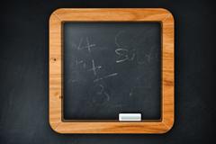 一个精致的黑板型图标PSD素材