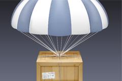 一个精致的空降箱子PSD素材